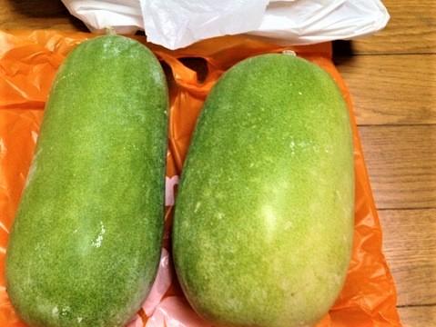 オキナワトウガン(冬瓜) 学名:Benincasa hispida シブイ winter melon