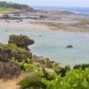 笠石海浜公園の展望台から見えるウジジ浜 沖永良部島