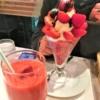 果樹園 あまおうパフェ ストロベリージュース