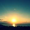 沖縄の夕日の風景
