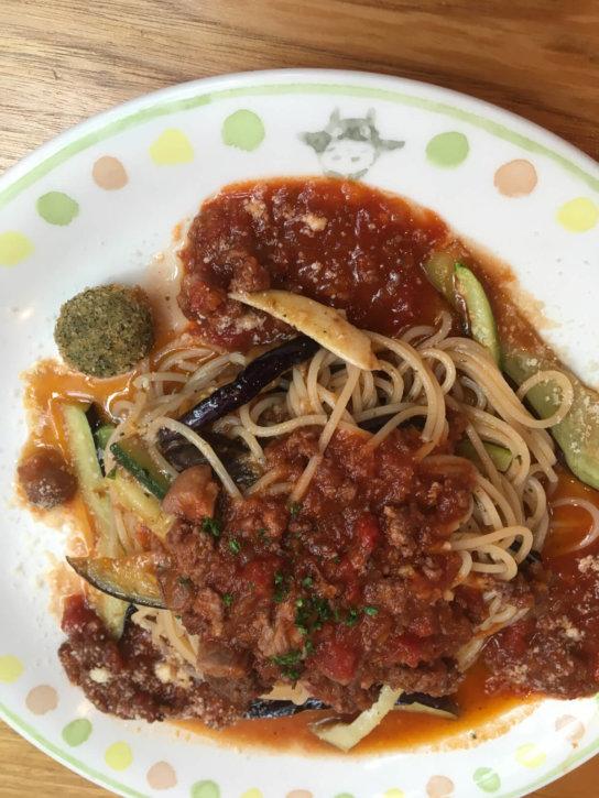 カフェ「麦わらぼうし」 ミートソースのごちそうスパゲティ