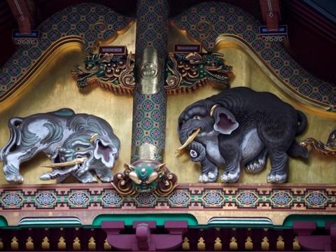 日光東照宮 上神庫の想像の象