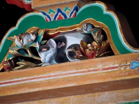 日光東照宮 東回廊の眠り猫