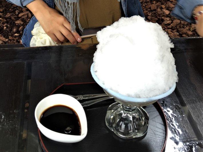 日光茶屋 黒蜜かき氷