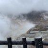 地面から煙が立ち上がる大迫力の大桶谷(おおわくだに)と黒たまご【神奈川:箱根】